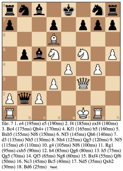 Game with decreasing inter-note duration.